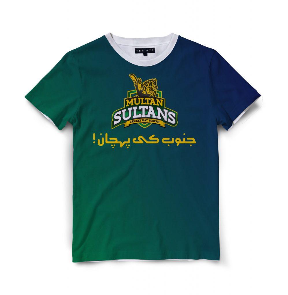 Custom T Shirts Printed - Multan sultan - For Sale