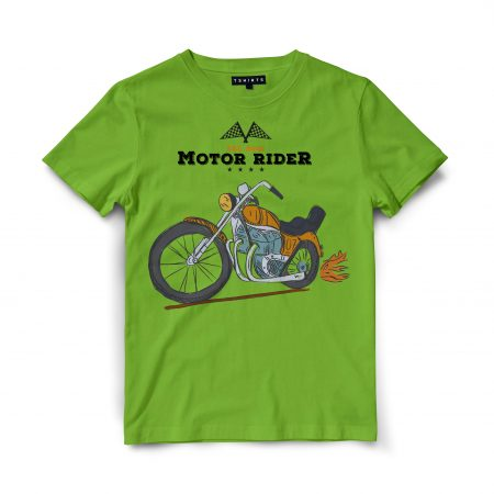 Custom T Shirts - Motor Rider - Printed For Sale