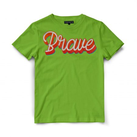 Custom T Shirts - Brave - Printed For Sale