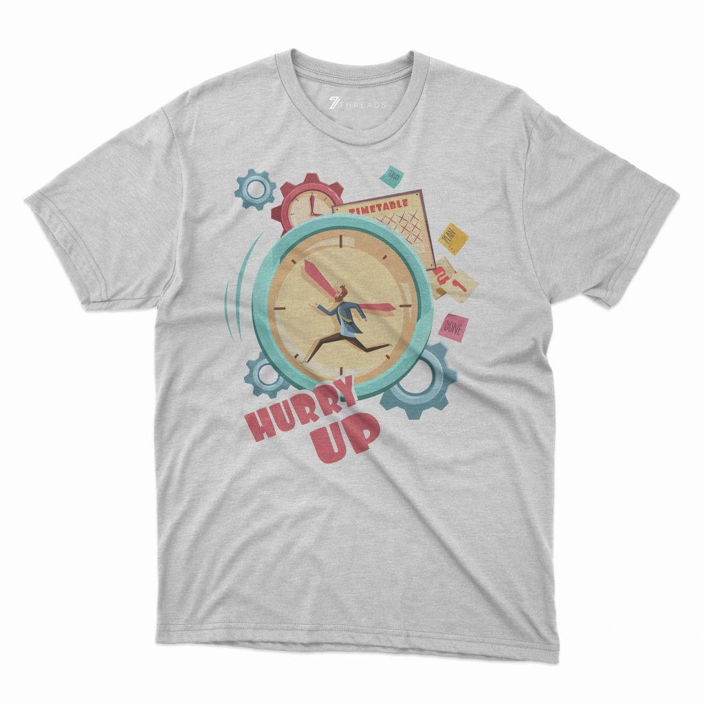 Custom T Shirts Printed - Hurry UP - For Sale