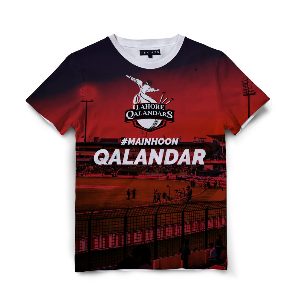 Custom T Shirts Printed - Lahore Qalandars - For Sale