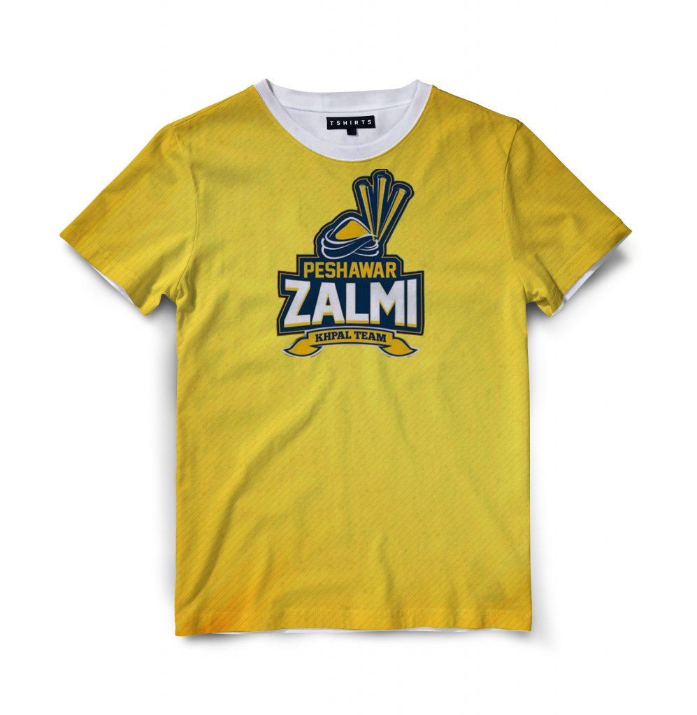 Custom T Shirts Printed - Peshawar Zalmi - For Sale