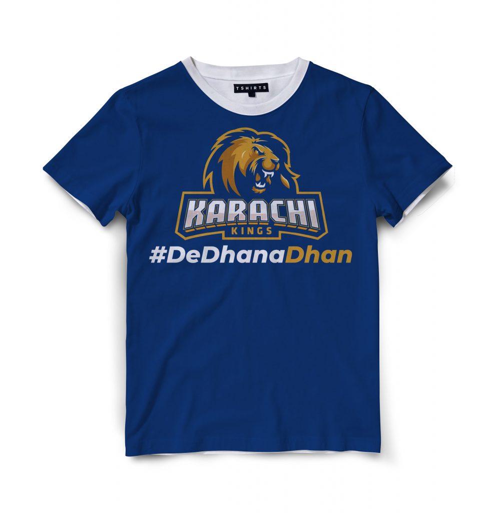 Custom T Shirts Printed - Karachi kings - For Sale