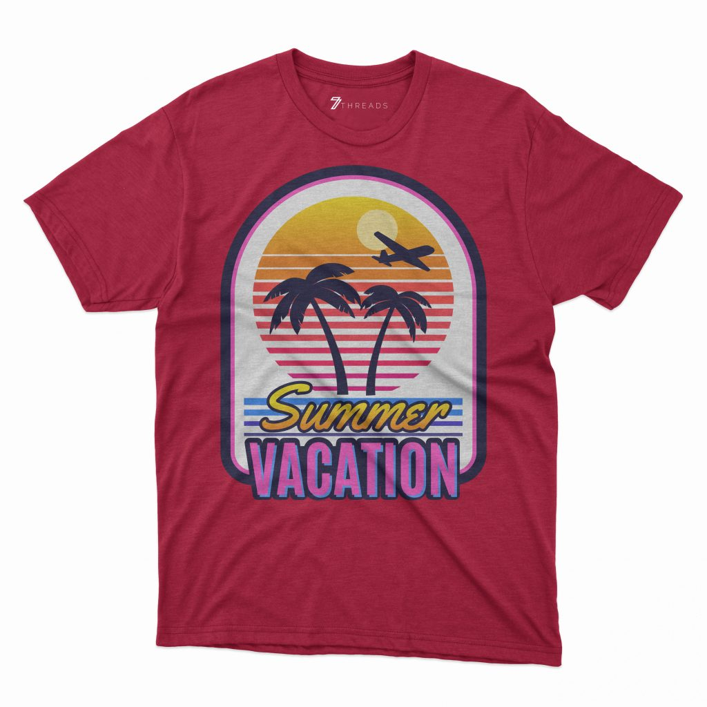 Custom T Shirts Printed - Summer Vacation - For Sale