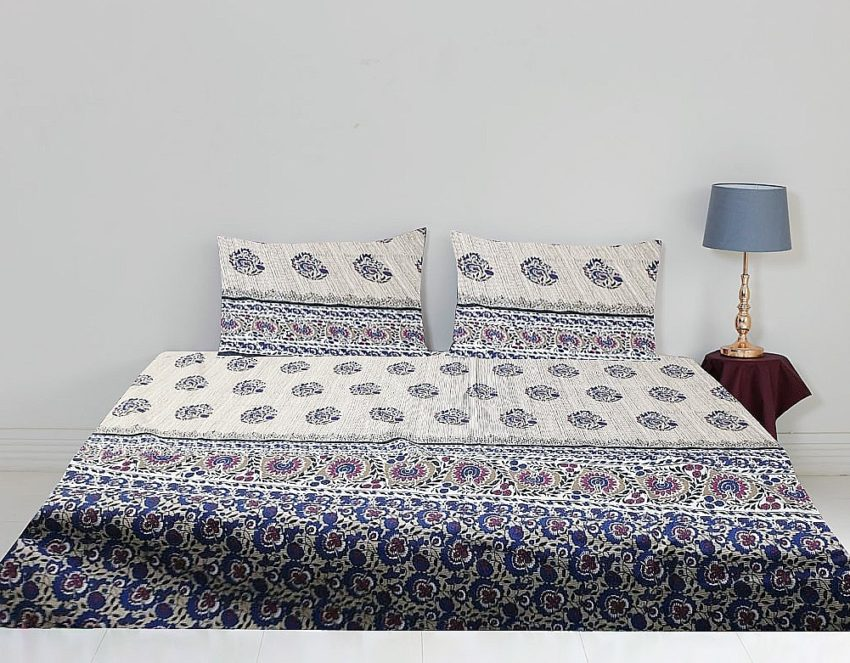 Printed Cotton Bed Sheet For Sale