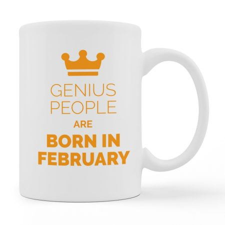 Custom Mugs Genius People Are Born White Color For Sale
