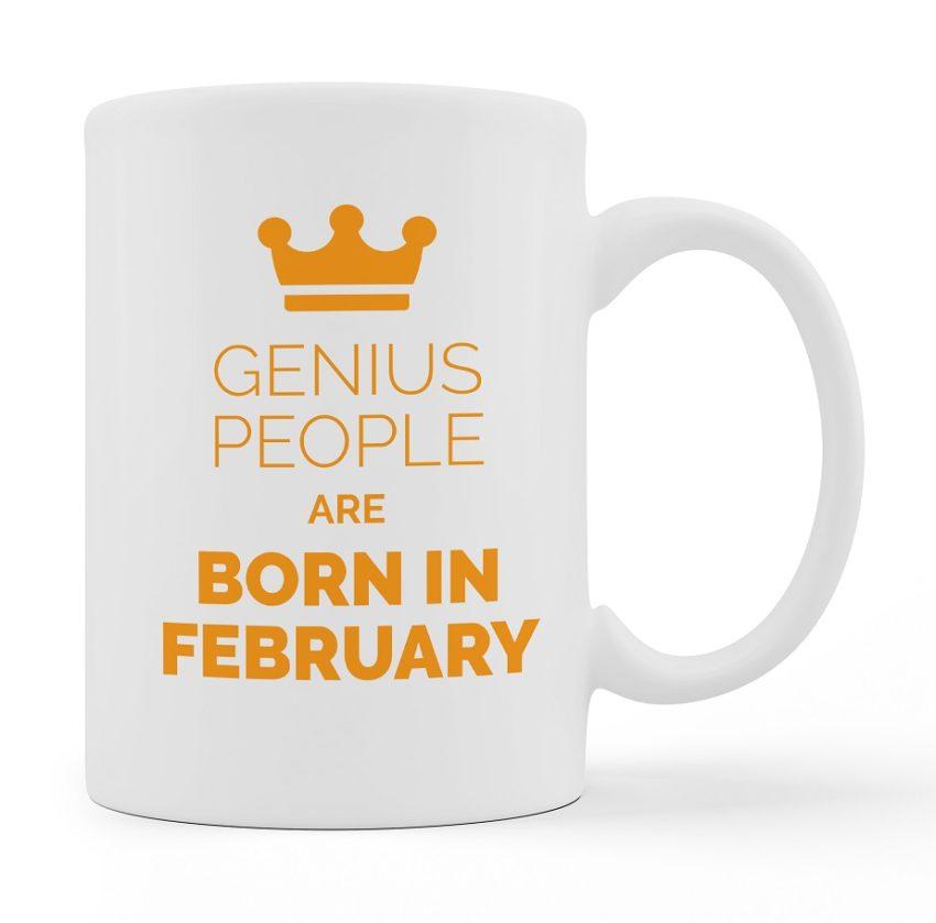 Custom Mugs Genius People Are Born White Color For Sale