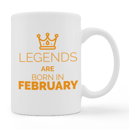Coffee Mugs Legends Are Born White Color For Sale