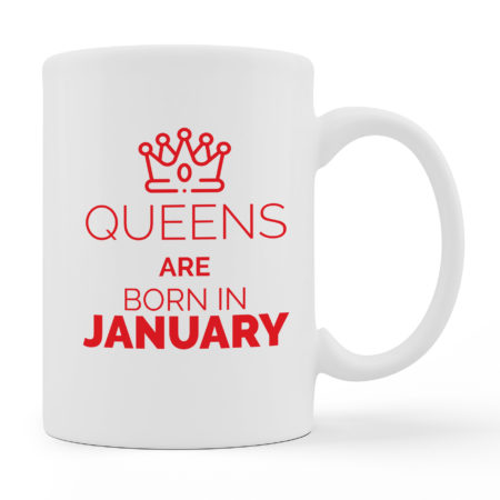 Coffee Mugs Queens Are Born White Color For Sale