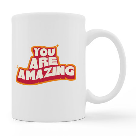 Coffee Mugs You Are Amazing White Color For Sale