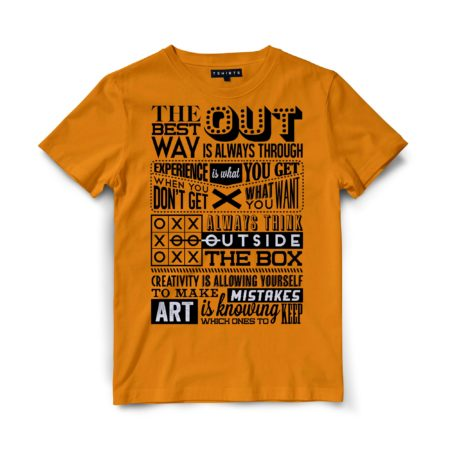 Custom T Shirts - Best Way Out - Printed For Sale