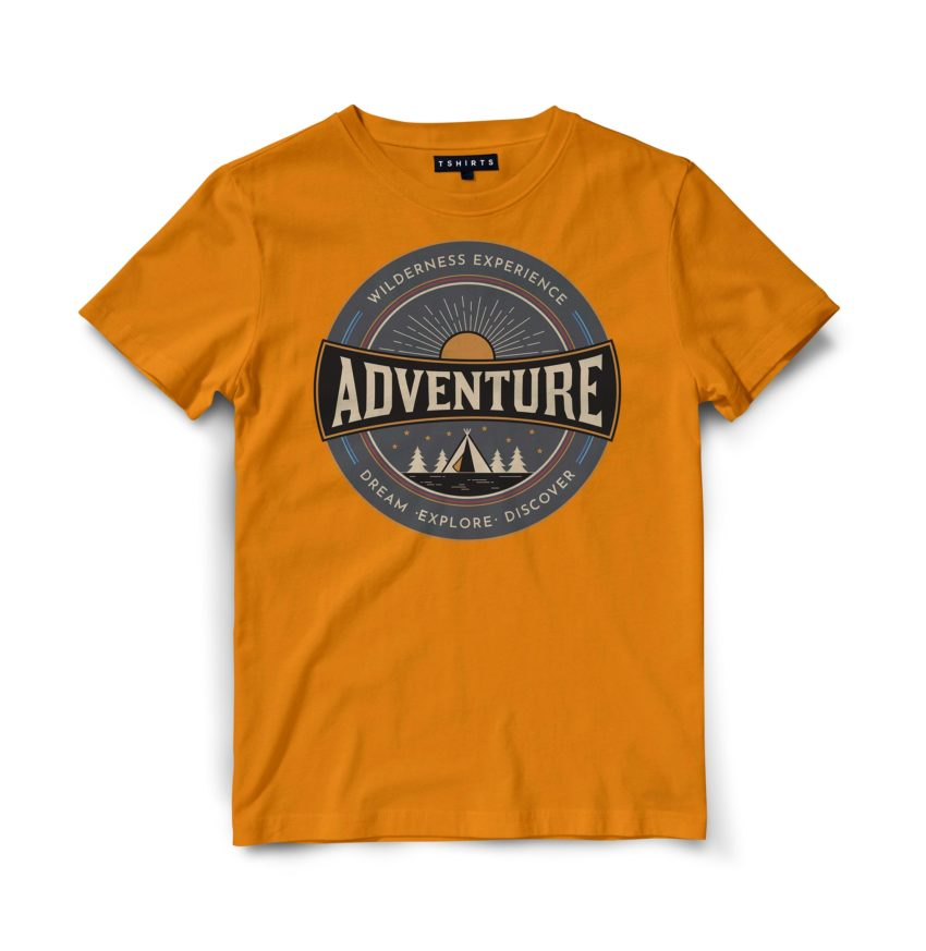 Custom T Shirts - Adventure- Printed For Sale