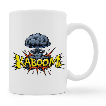 Coffee Mugs - KABOOM - White Color For Sale