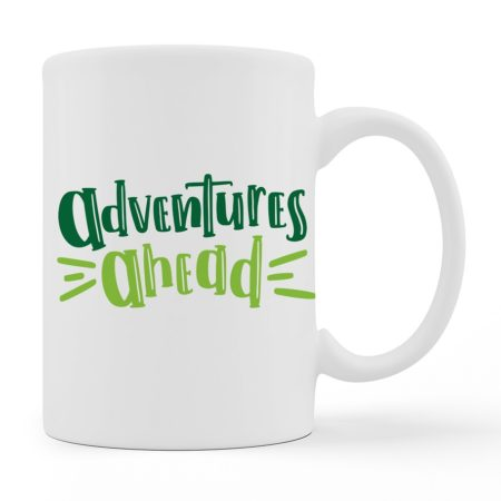 Coffee Mugs - Adventures Ahead - White Color For Sale