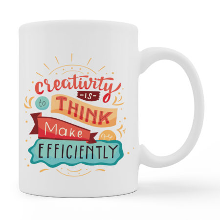 Coffee Mugs - Creativity - White Color For Sale
