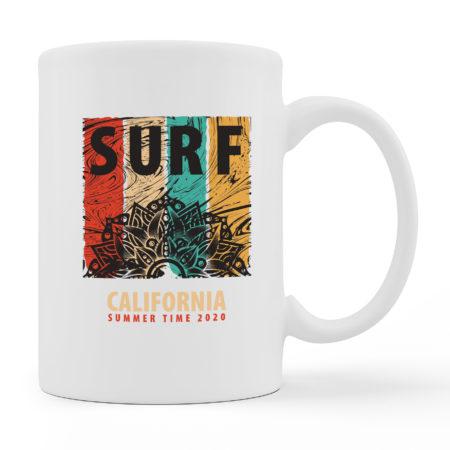 Coffee Mugs - California - White Color For Sale