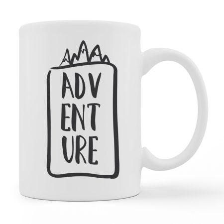 Coffee Mugs - ADVENTURE - White Color For Sale