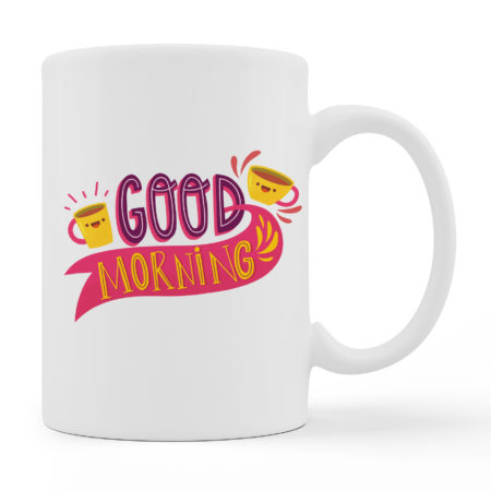 Coffee Mugs - Good Morning - White Color For Sale
