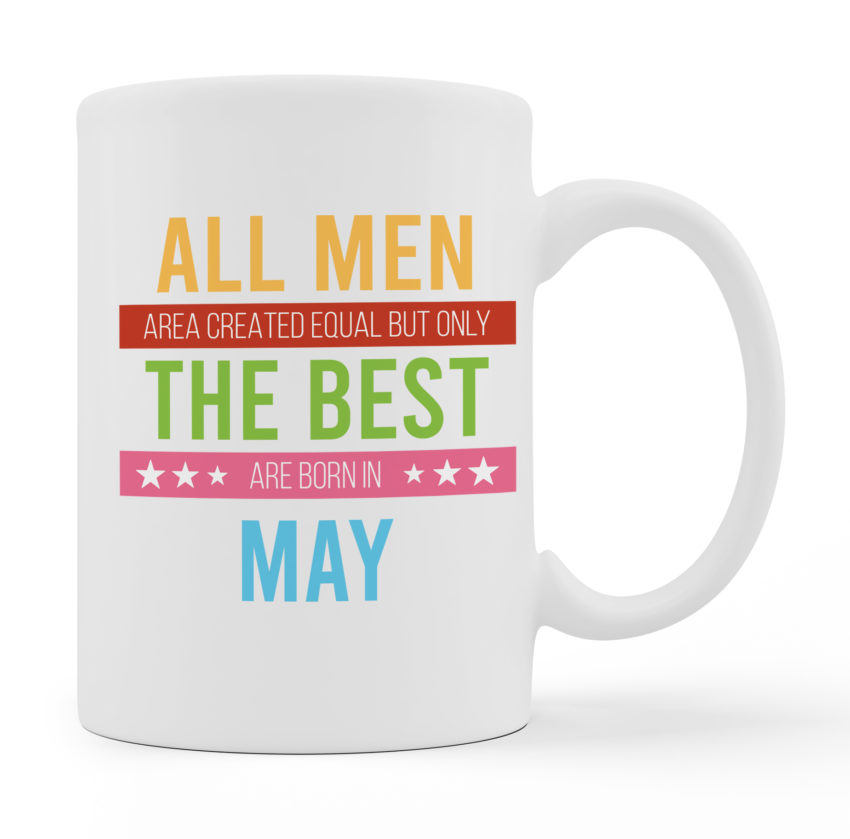 Coffee Mugs - Best Men Are Born - White Color For Sale