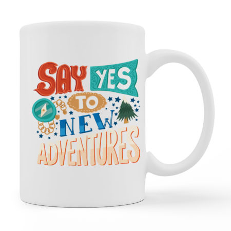 Coffee Mugs - Adventures - White Color For Sale