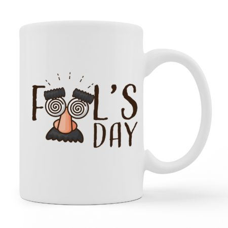 Coffee Mugs - Fools Day - White Color For Sale