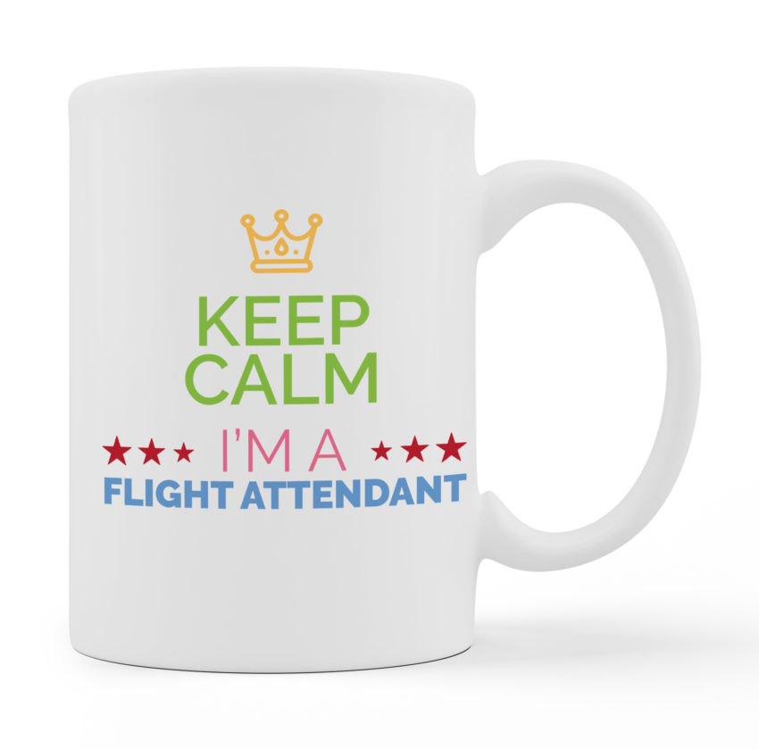 Coffee Mugs - I Am A Flight Attendant - White Color For Sale