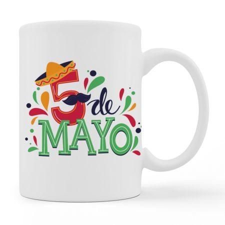 Coffee Mugs -5 DE Mayo - White Color For Sale
