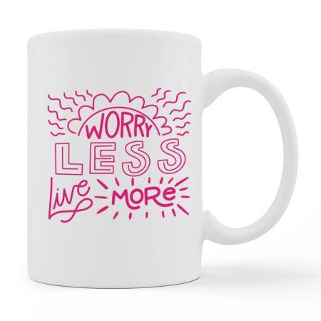 Coffee Mugs - Live More - White Color For Sale